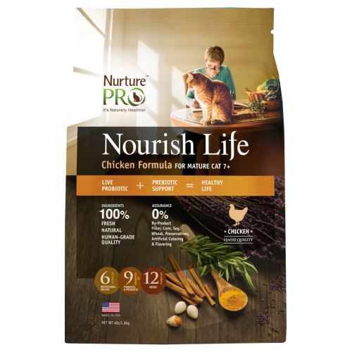 Nurture Pro, Cat Dry Food, Nourish Life, Mature 7+, Chicken (3 Sizes)