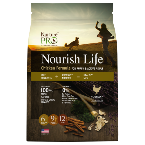 Nurture Pro, Dog Dry Food, Nourish Life, Puppy & Active Adult, Chicken