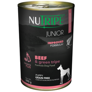 Nutripe, Dog Wet Food, Junior, Beef & Green Tripe