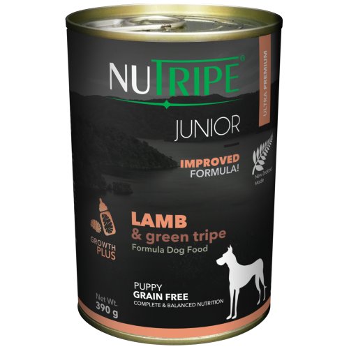 Nutripe, Dog Wet Food, Junior, Lamb & Green Tripe
