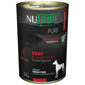 Nutripe, Dog Wet Food, Pure, Adult, Beef & Green Tripe