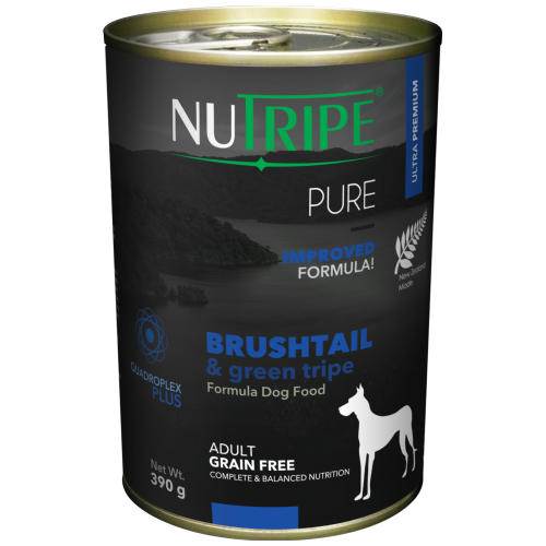 Nutripe, Dog Wet Food, Pure, Adult, Brushtail & Green Tripe