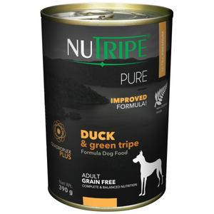 Nutripe, Dog Wet Food, Pure, Adult, Duck & Green Tripe