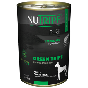 Nutripe, Dog Wet Food, Pure, Adult, Green Tripe