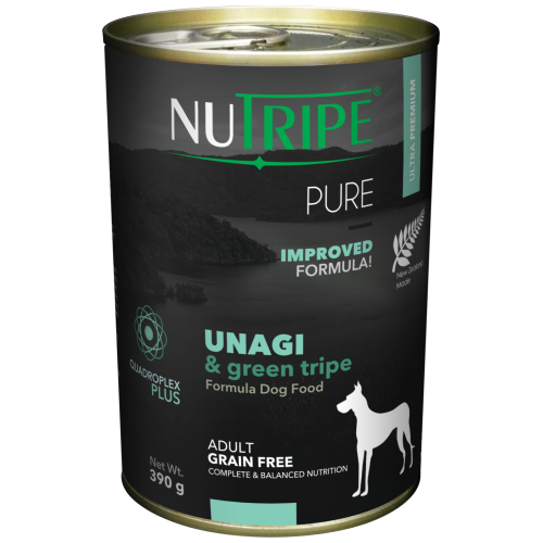 Nutripe, Dog Wet Food, Pure, Adult, Unagi & Green Tripe