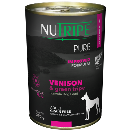 Nutripe, Dog Wet Food, Pure, Adult, Venison & Green Tripe