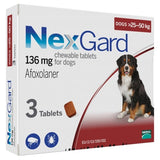 NexGard, Dog Healthcare, Fleas & Ticks, Soft Chew, Dogs 25kg to 50kg (Large Dogs)