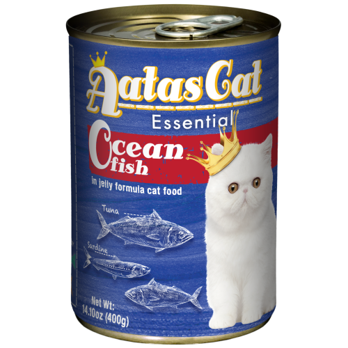 Aatas Cat, Cat Wet Food, Essential, Ocean Fish in Jelly (By Carton)