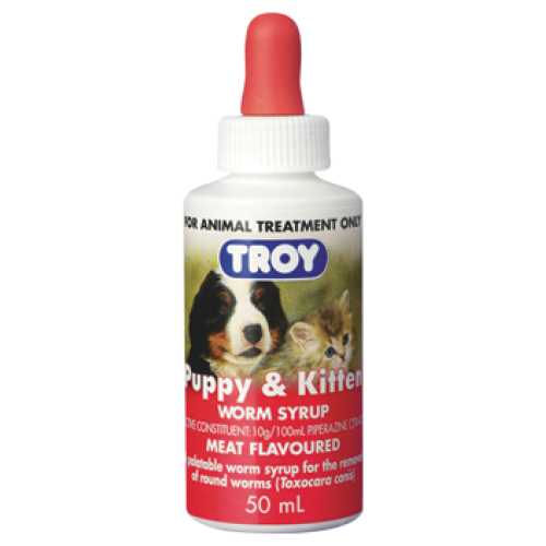 Troy, Dog & Cat Healthcare, Others, Puppy & Kitten Worm Syrup