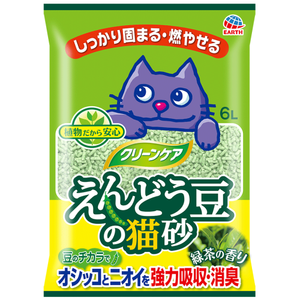 Earth Pet, Cat Hygiene, Litter, Green Pea, Green Tea