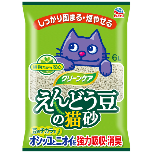 Earth Pet, Cat Hygiene, Litter, Green Pea, Original