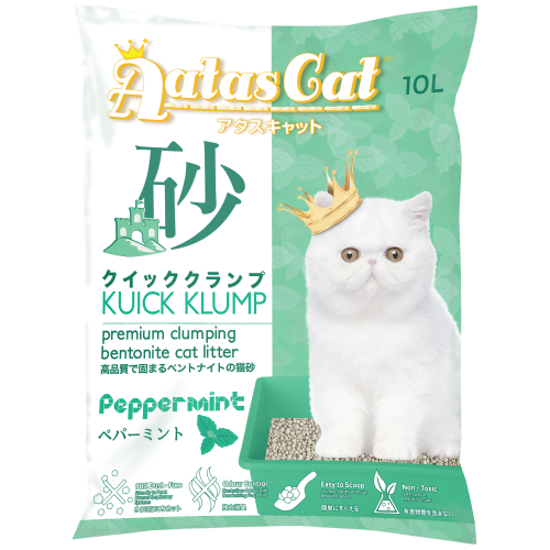 Aatas Cat, Cat Hygiene, Litter, Kuick Klump, Bentonite Cat Sand, Peppermint