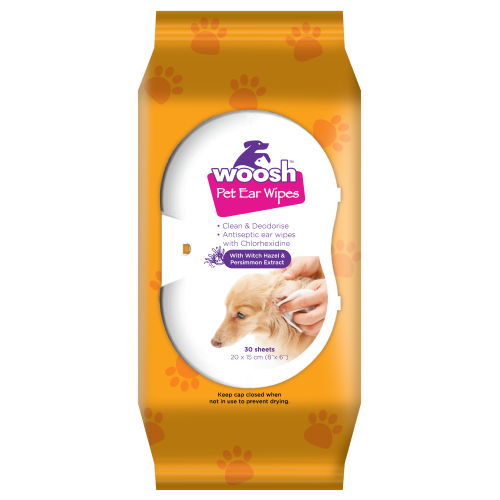 Woosh, Dog & Cat Hygiene, Wipes & Ear Washes, Pet Ear Wipes