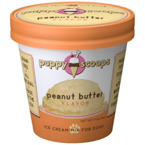 Puppy Scoops, Dog Treats, Ice Cream Mix, Peanut Butter