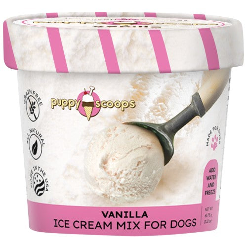 Puppy Scoops, Dog Treats, Ice Cream Mix, Vanilla