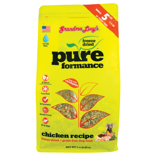 Grandma Lucy's, Dog Food, Freeze Dried, Grain Free, Pureformance Chicken