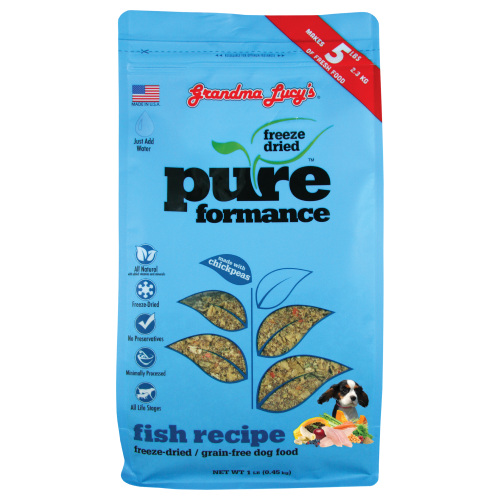Grandma Lucy's, Dog Food, Freeze Dried, Grain Free, Pureformance Fish