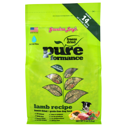 Grandma Lucy's, Dog Food, Freeze Dried, Grain Free, Pureformance Lamb
