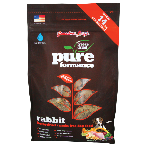 Grandma Lucy's, Dog Food, Freeze Dried, Grain Free, Pureformance Rabbit