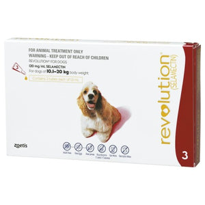 Revolution, Dog Healthcare, Fleas & Deworm, Dogs 10.1kg to 20kg (Medium Dogs)