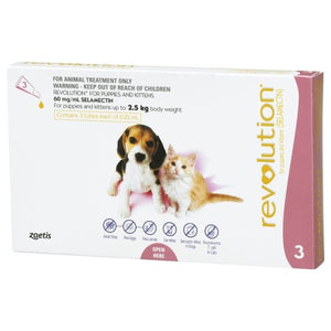 Revolution, Dog & Cat Healthcare, Fleas & Deworm, Puppies & Kittens up to 2.5kg