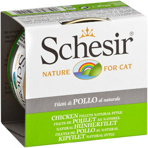 Schesir, Cat Wet Food, Water, Chicken Fillets Natural Style (By Carton)