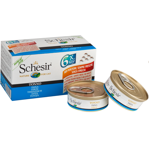 Schesir, Cat Wet Food, Multipacks, Tuna