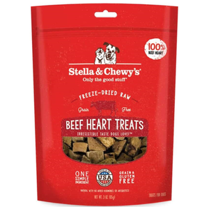 Stella & Chewy's, Dog Treats, Freeze Dried, Single Ingredient, Beef Heart