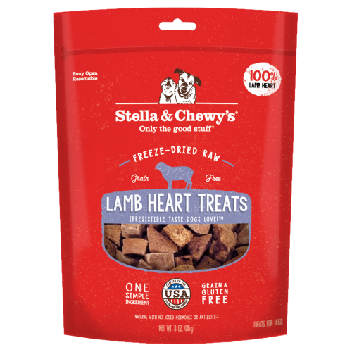 Stella & Chewy's, Dog Treats, Freeze Dried, Single Ingredient, Lamb Heart