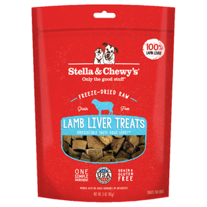 Stella & Chewy's, Dog Treats, Freeze Dried, Single Ingredient, Lamb Liver