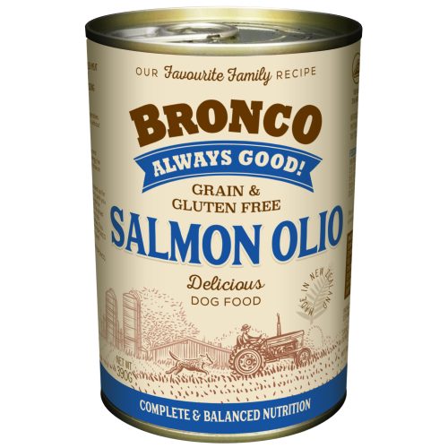 Bronco, Dog Wet Food, Grain Free, Olio Salmon