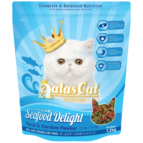 Aatas Cat, Cat Dry Food, Seafood Delight, Tuna & Sardine