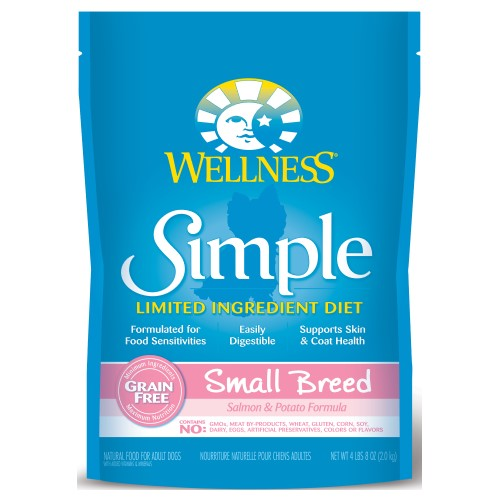 Wellness Simple, Dog Dry Food, Limited Ingredient Diet, Grain Free, Small Breed, Salmon & Potato