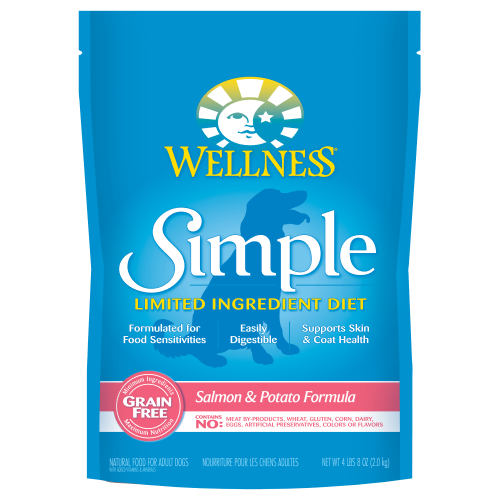 Wellness Simple, Dog Dry Food, Limited Ingredient Diet, Grain Free, Salmon & Potato