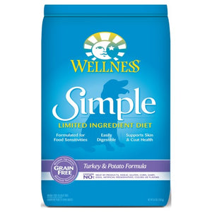 Wellness Simple, Dog Dry Food, Limited Ingredient Diet, Grain Free, Turkey & Potato