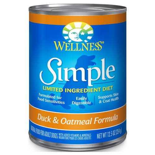 Wellness Simple, Dog Wet Food, Limited Ingredient Diet, Pate, Duck & Oatmeal