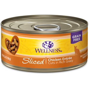 Wellness Complete Health, Cat Wet Food, Grain Free, Sliced, Chicken Entree