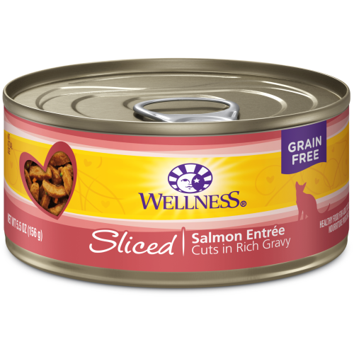 Wellness Complete Health, Cat Wet Food, Grain Free, Sliced, Salmon Entree