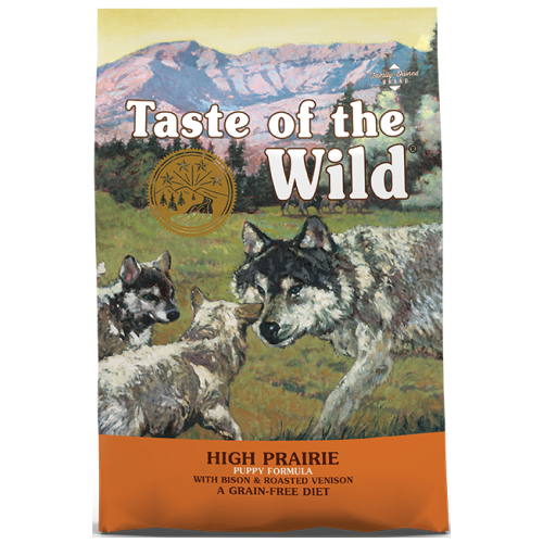 Taste of the Wild, Dog Dry Food, High Prairie Puppy, Bison & Roasted Venison (2 Sizes)