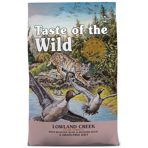 Taste of the Wild, Cat Dry Food, Lowland Creek, Roasted Quail & Roasted Duck (2 Sizes)