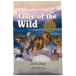 Taste of the Wild, Dog Dry Food, Wetlands, Roasted Fowl (2 Sizes)