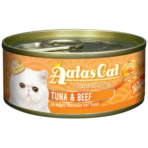 Aatas Cat, Cat Wet Food, Tantalizing Tuna & Beef in Aspic (By Carton)
