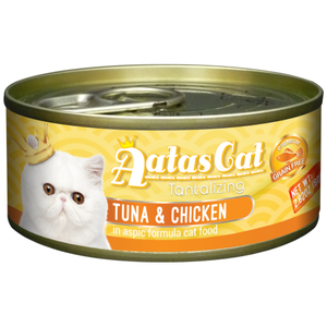 Aatas Cat, Cat Wet Food, Tantalizing Tuna & Chicken in Aspic (2 Sizes, By Carton)