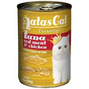 Aatas Cat, Cat Wet Food, Essential, Tuna Red Meat with Chicken in Jelly (By Carton)