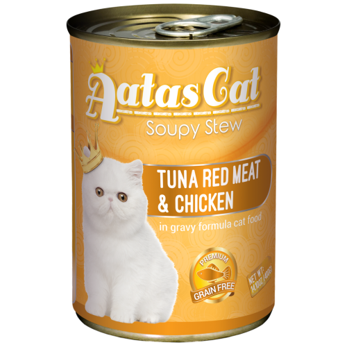 Aatas Cat, Cat Wet Food, Soupy Stew, Tuna Red Meat with Chicken in Gravy (By Carton)