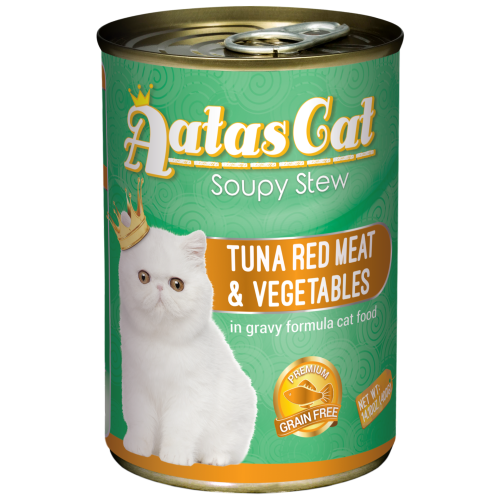 Aatas Cat, Cat Wet Food, Soupy Stew, Tuna Red Meat with Vegetables in Gravy (By Carton)