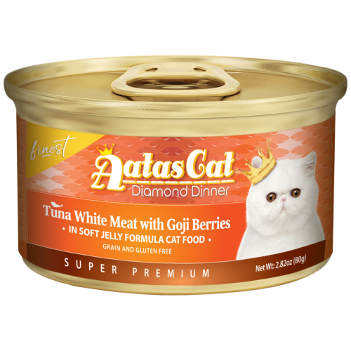 Aatas Cat, Cat Wet Food, Finest Diamond Dinner, Tuna with Goji Berries in Jelly (By Carton)