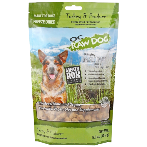 OC Raw, Dog Food, Mixers & Toppers, Freeze Dried, Meaty Rox, Turkey
