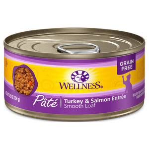 Wellness Complete Health, Cat Wet Food, Grain Free, Pate, Turkey & Salmon