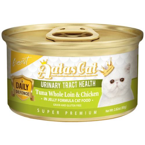 Aatas Cat, Cat Wet Food, Finest Daily Defence, Urinary Tract Health, Tuna Whole Loin & Chicken (By Carton)
